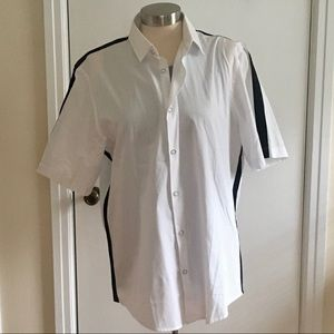 Men's Alfani Short Sleeved Button Down Shirt